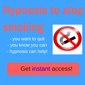Hypnosis to stop smoking